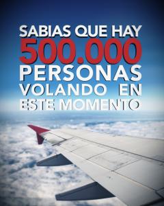 500000 personal estan volando ahora